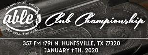 Club Championship Tournament Jan 11, 2020